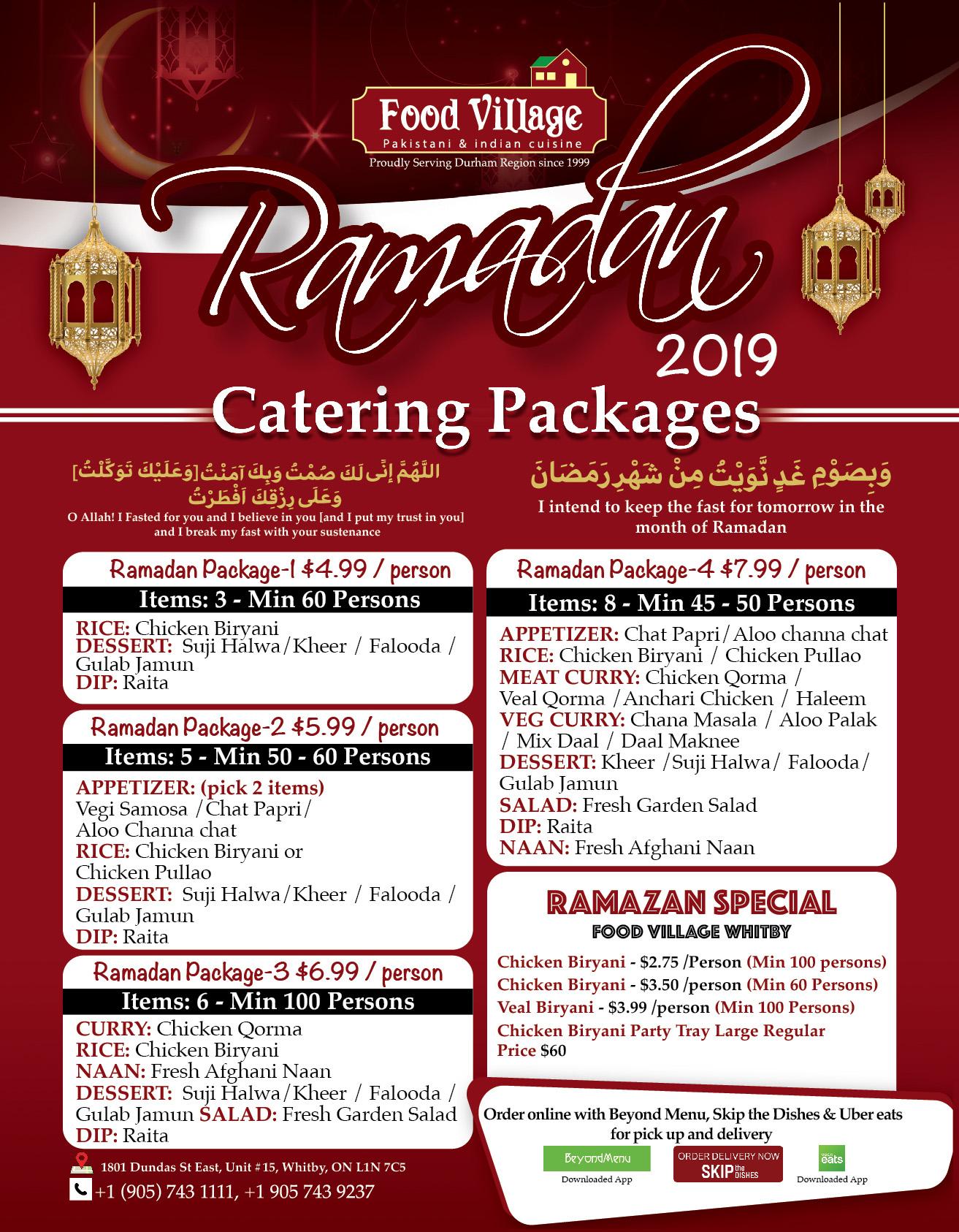 Ramadan Packages – Food Village